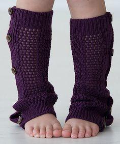 Another great find on #zulily! Plum Lil Oakley Leg Warmers by PeekABootSocks #zulilyfinds