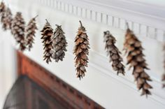 Three simple decorating ideas that use things you already have but feel just as festive.    Pinecones...