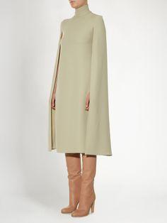 Cape-back silk-cady midi dress | Valentino | MATCHESFASHION.COM
