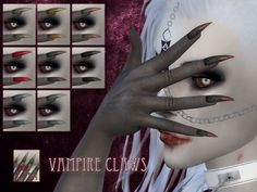 Vampire claws by RemusSirion at TSR via Sims 4 Updates