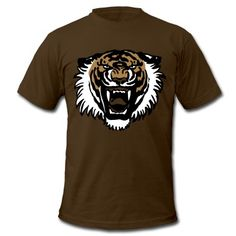 Ein brüllender Tiger von Cheerful Madness!! Geeignet für den Plottdruck, Flex und Flock. Voll anpassbar: Sie können auch die Farben der Grafik ändern. T-Shirts.