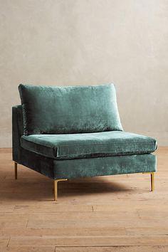 Slide View: 1: Slub Velvet Edlyn Chair