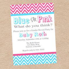 Gender reveal invite wording baby gender reveal party items similar to gender reveal party invitation team blue vs team pink diy printable on etsy filmwisefo