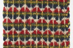 ERM 3444/ab - part of a mitten pattern from the National Museum of Estonia