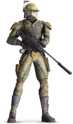 Rako Hardeen ¤° Bounty Hunter... Rako's helmet design is fashioned after the original design for Boba Fett's helmet... Star Wars °° Ben Kenobi uses his uniform in Clone Wars to go undercover ...