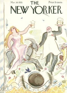 The New Yorker - Saturday, March 30, 1935 - Issue # 528 - Vol. 11 - N° 7 - Cover by : Garrett Price