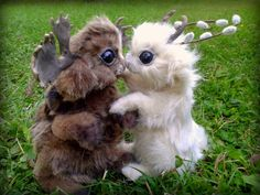 Jackalope Kisses by Heiditruth.deviantart.com on @DeviantArt