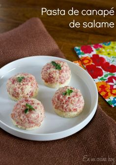 Pasta de canapé: Salame. Receta chilena. #enmicocinahoy #pastadesalame #salame