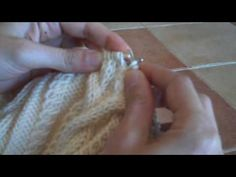 How to Knit a Wrapped Cable - YouTube