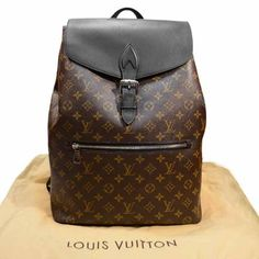 Louis Vuitton Monogram Macassar Canvas Palk Backpack Bag M40637 | Lollipuff