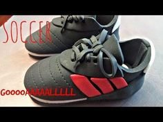 How to make a Soccer Shoe Cake Topper - YouTube