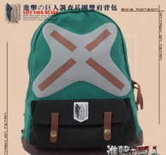 Attack On Titan cool fashion The survey corps backpack bag