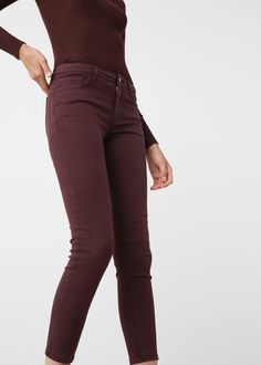 Skinny peach jeans -  Woman | MANGO United Kingdom