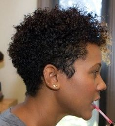 Short Hairstyles For Natural Hair Adorable Pinlenore Whitfield On Curly Hair Styles  Pinterest  Hair