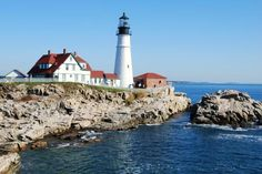What a beautiful view of the coast and Portland Head Lighthouse in Port Elizabeth, Maine. Looking forward to escaping completely on our upcoming New England cruise! Royal Princess Cruise Ship, Princess Cruises, The Places Youll Go, Places To Go, New England Cruises, Best Cruise Deals, Beach Watch, Port Elizabeth, Greatest Adventure