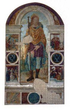 San Rocco di Geta  Affresco XVI sec. - Palazzo De Vio, Gaeta