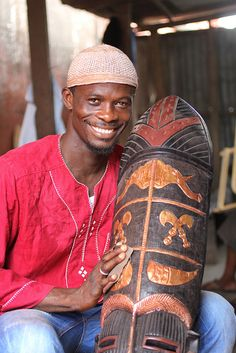 This is Abdul Aziz, a NOVICA mask artisan from West Africa.