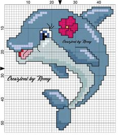Dolphin for rug Free Cross Stitch Charts, Mini Cross Stitch, Cross Stitch Cards, Cross Stitch Animals, Cross Stitch Flowers, Cross Stitching, Cross Stitch Embroidery, Cross Stitch Designs, Cross Stitch Patterns