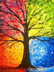 Tree painting seasons art projects 54 ideas for 2019 Easy Canvas Painting, Simple Acrylic Paintings, Abstract Paintings, Painting & Drawing, Landscape Paintings, Canvas Art, Art Paintings, Painting Abstract, Acrylic Canvas