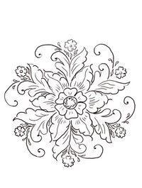 Norwegian Rosemaling Coloring page | Free Printable Coloring Pages
