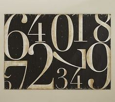 Painted Numbers Canvas