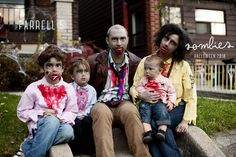 Family of zombies.  Our halloween costume in 2010. #zombies #familyofzombies #familyhalloweencostume