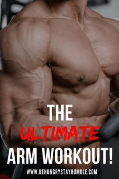 The Ultimate Arm Workout Das ultimative Armtraining Arm Workout Men, Bicep And Tricep Workout, Biceps And Triceps, Gym Workout Tips, Workout Challenge, Dumbbell Exercises, Body Exercises, Workout Videos, Arm Workout For Beginners