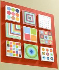 Coloridos y divertidos cuadros para realizar en casa