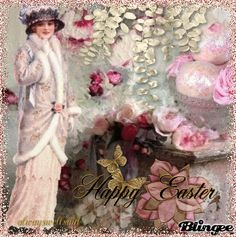 Roses And Pink Easter Eggs/ http://bln.gs/b/27we7n