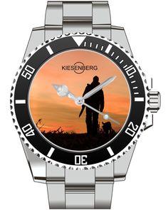 Hunter Gift Watch Kiesenberg  - Men Watch Jewelry Hunter Gun Gift Present for Men- Watch 1997 von UHR63 auf Etsy