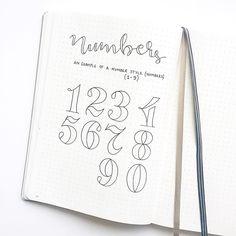 390 vind-ik-leuks, 23 reacties - annie's bullet journal ( Bullet Journal Police, Bullet Journal Numbers, Bullet Journal Designs, Bullet Journal Font, Journal Fonts, Bullet Journal Lettering Ideas, Bullet Journal Calendrier, Organization Bullet Journal, Doodle Lettering