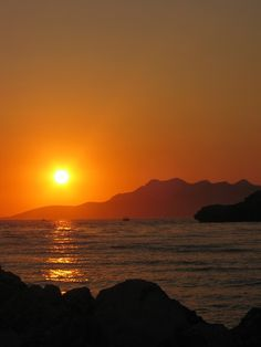 Amoudia, Greece, Sunset
