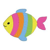 #FREE Rainbow fish from Awesome Judy at PNW Embroidery.