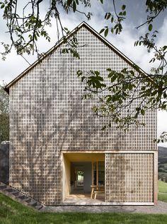Austrian home with a mountain views home built by Innauer-Matt Architekten