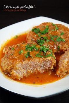 Gołąbki bez zawijania / Meatball with Cabbage (recipe in Polish) Cabbage Recipes, Pork Recipes, Gourmet Recipes, Crockpot Recipes, Healthy Recipes, Good Food, Yummy Food, Polish Recipes, Gastronomia