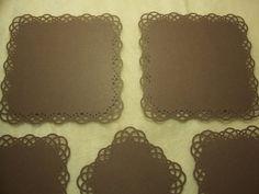 Scrapbook Piece Set of Very Elegant by JudeAlyssaMarkus Scrapbook Frames, Lace Border, Doilies, Card Stock, Embellishments, Texture, Elegant, Etsy, Surface Finish