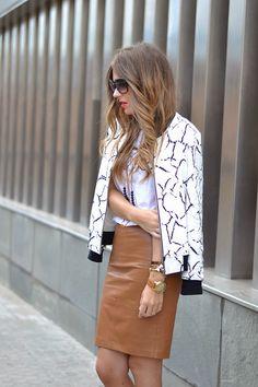 BOMBER CROMO Brown Leather Skirt, Skirts, Women, Fashion, Trading Cards, Moda, Women's, La Mode, Skirt