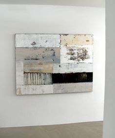 textures shapes and color: Artful Conversations - Collage and assemblage - Minimalismus İdeen Black And White Painting, White Art, Abstract Images, Abstract Oil, Encaustic Art, Painting Inspiration, Collage Art, Art Lessons, Modern Art