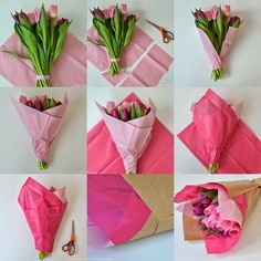 Wrap Flowers In Paper, How To Wrap Flowers, Diy Flowers, Felt Flower Bouquet, Bouquet Wrap, Diy Bouquet, Bouquets, Flower Shop Design, Flower Designs