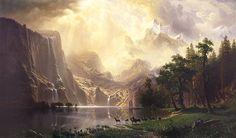 Bierstadt, Among the sierra nevada mountains