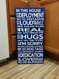 In This House Military ... Deployment ... Family Rules ... Vinyl wood Customizable, Army, Air Force, Navy, Coast Guard on Etsy, $28.00