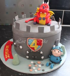 Knight party cake