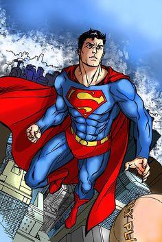 superman digital art photoshop