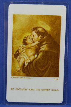 St. Anthony and The Christ Child 1952 by QueeniesCollectibles, $5.99
