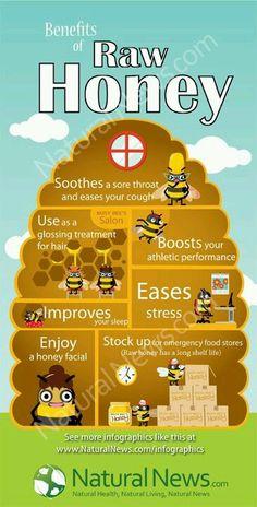 Benefits of raw honey. MRW