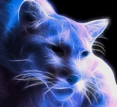fractal animal photo: blue Puma Puma_by_RichardatUK.jpg