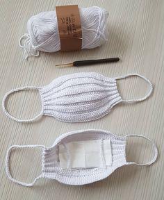 Face Mask Free Crochet Patterns & Paid + Video – DIY Magazine - New ideas Crochet Mask, Crochet Faces, Crochet Simple, Love Crochet, Learn To Crochet, Sewing Patterns Free, Free Pattern, Crochet Patterns, Easy Face Masks