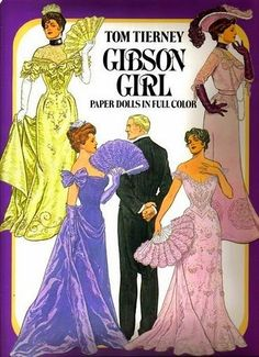 Free Tom Tierney Gibson Girls Paper Dolls With 7 Dolls (5 Male, 2 Female) and 14 Pages of Clothing