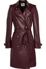 Burberry LondonKensington leather trench coat Olivia Benson dons this coat in the Season 18 episodes, Rape Interrupted, Great Expectations and the Season 19 episode Unintended Consequences. Not gonna lie, I'm wishing I could buy this.
