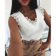 Fashion Women Sleeveless Shirt Casual Lace Blouse Loose Tops Shirt Ladies Backless Lace Up Blouse Summer Top Trend Fashion, Womens Fashion, Tee Shirt Dentelle, Plain Tank Tops, Crop Tops, Lace Vest, Loose Tops, Models, Clothes For Women